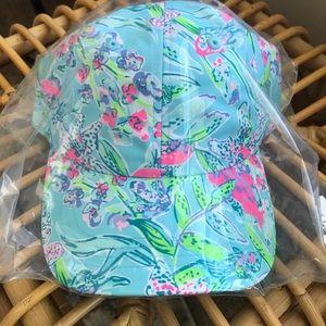 Lilly Pulitzer, Runaround hat, Bali blue